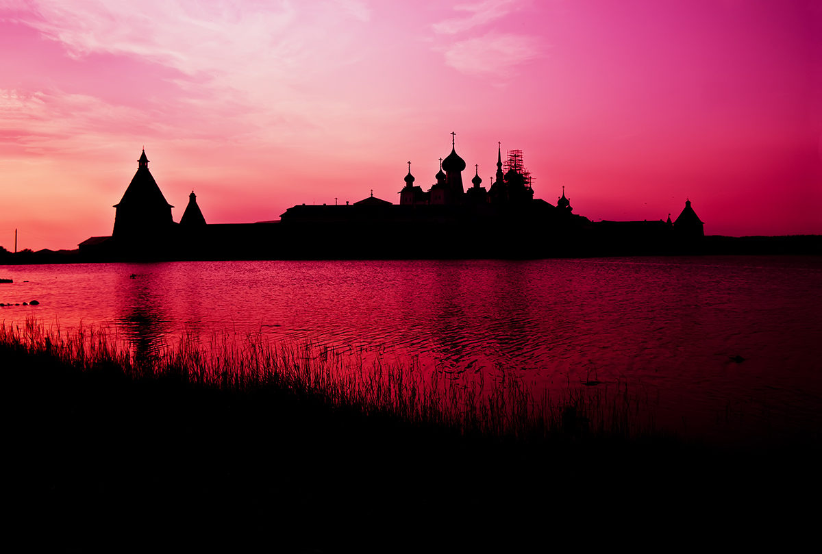 Solovetsky Monastery in Sunset Lighting